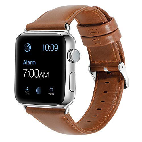 Vintage Leather Bands Replacement for Apple Watch Bands 38mm 42mm for iWatch Straps Series 3 2 1 Luxury Handmade Unusual Designer Tan Distressed Leather Belt