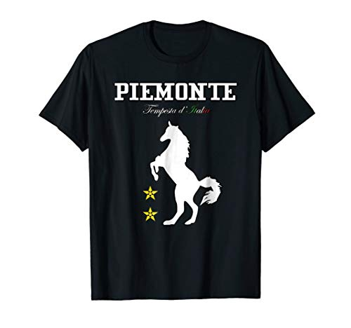 Vintage Funny Piemonte Casual Italy Horse Graphic T-Shirt