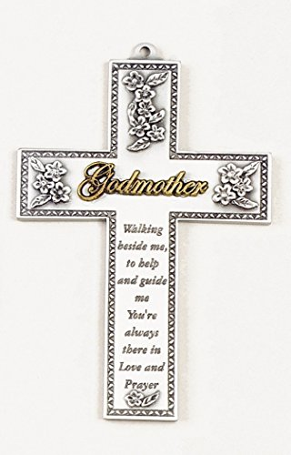 (There in Love and Prayer Pewter Godmother Wall Cross, 5 Inch)
