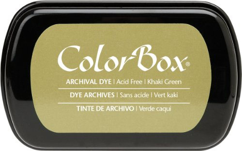 ColorBox Archival Dye Ink Full Size Inkpad, Khaki (Archival Book Boxes)