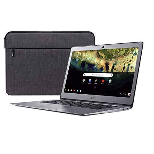 Acer 14in FHD IPS Chromebook with 3X Faster WiFi~Celeron N3160 Quad-Core Processor Up to 2.24Ghz~4GB RAM~16GB SSD~HDMI~USB 3.0~Webcam~Up to 12-Hours Battery~Chrome OS(Renewed) (16GB)