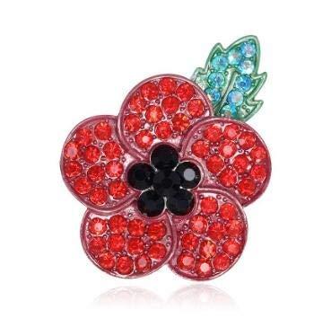 Buy Tbop Pin Cartoon Rhinestone Poppy Flower Brooch Pin Size 55