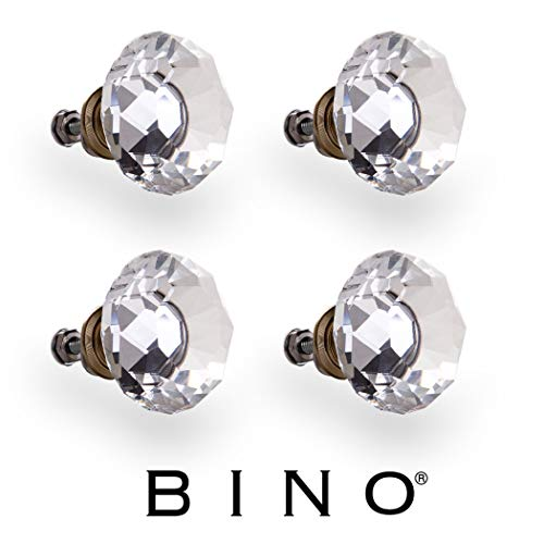 BINO 4-Pack Crystal Drawer Knobs - 1.5