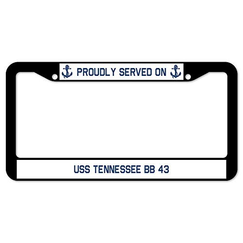 Wind gt2019 Design Art License Plate Frame Aluminum License Plate Cover .(12x6) inch Proudly Served on USS Tennessee Bb 43