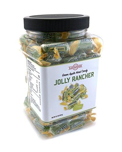 Jolly Rancher Green Apple Hard Candy, Plastic Jar