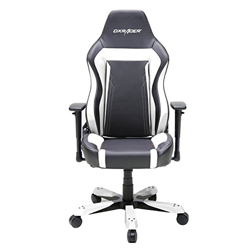 DXRacer OH/WZ06/NW Wide Series Black and White Gaming Chair - Includes 2 free cushions and on frame