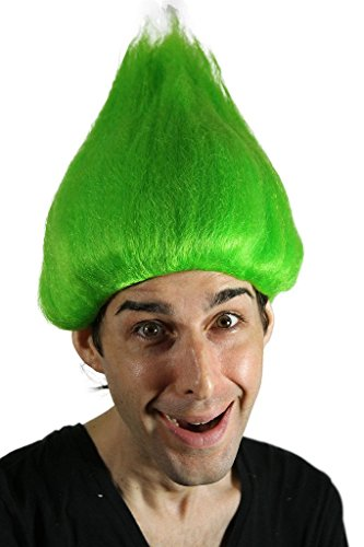 My Costume Wigs Men's Green Troll Wig (Green) One Size fits all -