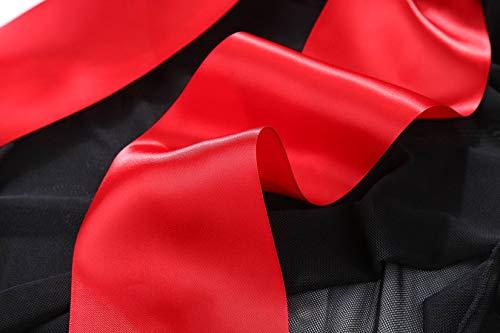 980317103ff JuicyRose Unwrap Me Babydoll Red Bow Lingerie Set Sleepwear Plus Size (2XL,  Black)