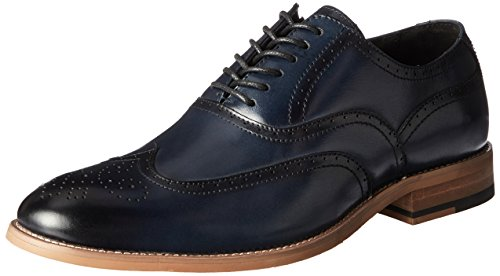 - STACY ADAMS Men's Dunbar-Wingtip Oxford, Indigo, 11 M US