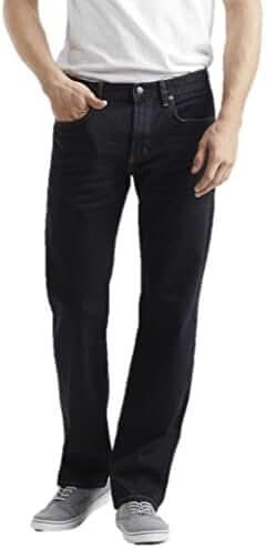 Aeropostale Mens Straight Dark Wash Stretch Jeans