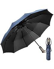 EMAGIE Paraguas Plegable Grande de Golf Sombrilla de Viaje Protecci¡§?n UV Paraguas para lluvia Anti-Viento F¡§¡écil de Tocar con Apertura y Cierre Autom¡§¡ético Port¡§¡étil Compacto Seca R¡§¡épido 46 Pulgadas