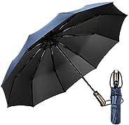 EMAGIE Paraguas Automático de Viaje Paraguas Plegable Grande de Golf Sombrilla de Viaje Protección UV Paraguas