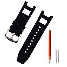 Ritche Replacement Silicone Rubber Watch Strap for Invicta Subaqua Noma