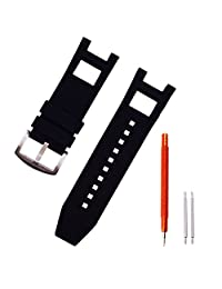 Ritche Replacement Silicone Rubber Watch Strap for Invicta Subaqua Noma