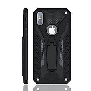 iPhone Xs Max Case   Military Grade   12ft. Drop Tested Protective Case   Kickstand   Wireless Charging   Compatible with Apple iPhone Xs Max - Black