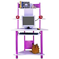 Computer Desk with Keyboard Tray Finish: Pink