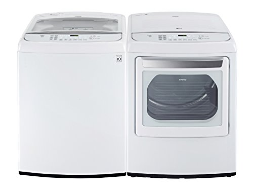 LG POWER Partner SPECIAL-Mega Capacity High Efficiency Top Load Laundry System with Innovative Easy Load Dryer*Guileless White*WT1801HWA_DLEY1701WE)