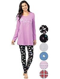 Pajamas for Women - PJs Women, Long Sleeve Top & Leggings