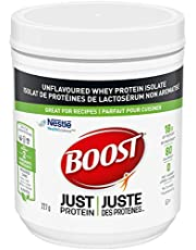 Boost JUST Protein Unflavoured Instant Whey Protein Isolate Powder, 227 Grams (Pack of 1) - Packaging May Vary