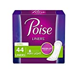Poise Incontinence Panty Liners, Extra Coverage, Value Pack, 44 Count