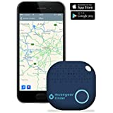 musegear app Key Finder (Dark Blue), New Version 2 I 3X Louder I Easily find and Track Your Keys, Phone, Remote, Wallet I Smartphone Bluetooth-GPS Pairing