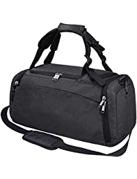 b036d1f92e Gym Duffle Bag Waterproof Travel Weekender Bag for Men Women Duffel Bag  Backpack with Shoes Compartment