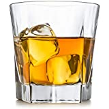 Whiskey Glasses, Set Of 2 – By Liquor Sip. Unique And Elegant Design- Large 12 oz Lead-free Tumblers- Strong Base- Dishwasher safe. 10 Bonus Refreshing Cocktail Recipes enclosed in a stylish gift box