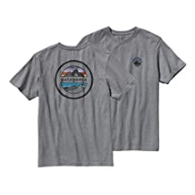 Patagonia Mens Rivet Logo Cotton T-Shirt (XL, Gravel Heather)