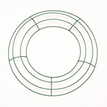 Royalty Essentials Metal Wire Wreath Frame Form Hanger Green 10 Inch Pack of 10
