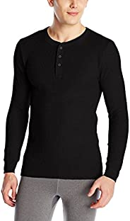 Fruit of the Loom Men's Classics Midweight Waffle Thermal Henley