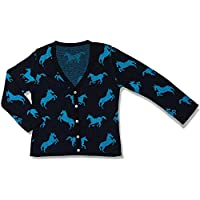 Cardigan Tricot Apache Azul Escuro - Infantil Menina