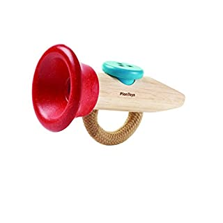 PlanToys Kazoo Musical Toy Instrument (6437) | Sustainably Made from Rubberwood and Non-Toxic Paints and Dyes