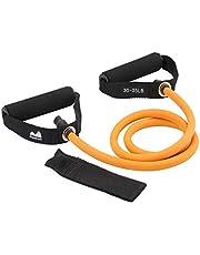 REEHUT Träningsband enkelt motståndsband, träningsrör – med dörrankare och manual, för motståndsträning, fysisk terapi, hemträning, boxning