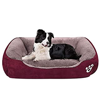 CLOUDZONE Dog Bed Machine Washable Rectangle Breathable Soft Cotton with Nonskid Bottom Extra Large Pet Bed for Medium and Large Dogs or Multiple