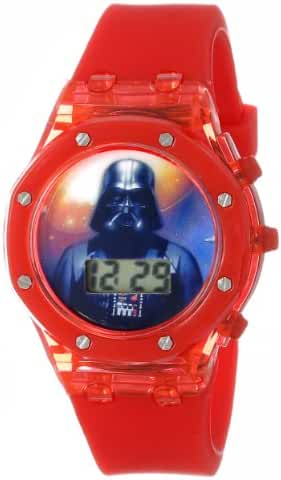 Star Wars Kids' DAR3520 Darth Vader Digital Watch with Red Rubber Band