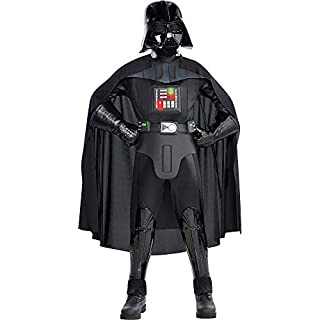 Costumes USA Star Wars Darth Vader Costume Supreme for Boys, Size Small, Includes a Jumpsuit, a Mask, a Cape, and More