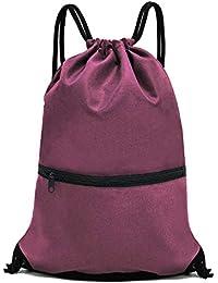 Men   Women Sport Gym Sack Drawstring Backpack Bag (White e15bbcf86c