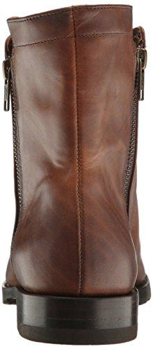 Frye Kvinna Natalie Dubbel Zip Boot Whisky Pressad Full Grain