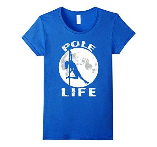 Womens Pole Dance Shirt Pole Dance Clothes Pole Fitness Shirt Small Royal Blue
