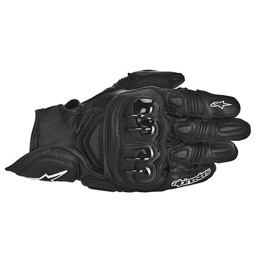 Alpinestars GPX Leather Motorcycle Gloves - Black - Large (Leather Gpx Alpinestars)