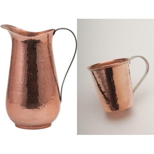 Sertodo Copper Pitcher and 4 Moscow Mule Mugs Bundle by Sertodo