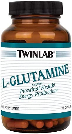 Twinlab L-Glutamine 500mg 100 Cap Digestive Dietary Supplement for Intestinal Healthand Energy Production