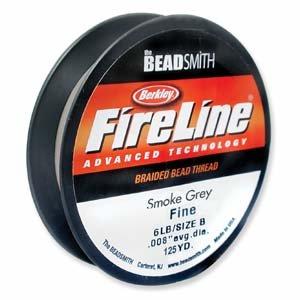FireLine Braided Beading Thread 6lb,Smoke Grey, .006-Inches,125 Yards by Fireline