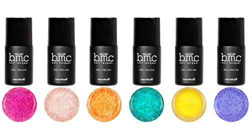 BMC 6pc UV/LED Sand Gel Nail Polish Master Set - Hawaiian Es