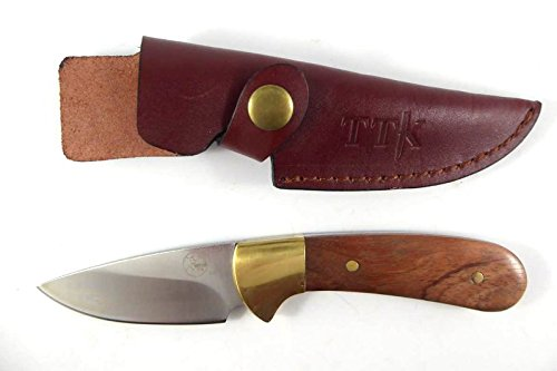 Tassie Tiger Knives Hunting Knife, Fixed Blade with Leather ()