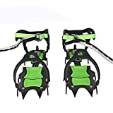 Ice & Snow Grips Over Shoe,Extendable Traction Cleats,Crampon Hiking Camping Outdoor Anti-skidding Tool for Snow and Ice, 1 Pairs