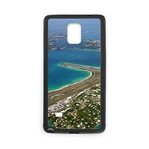 Funda Samsung Galaxy Note caja del teléfono celular 4 funda S7I8TF bermudas Negro