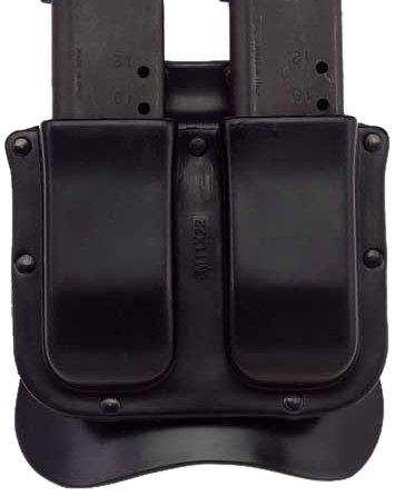 Galco Single Mag Case - Galco M11X Matrix Double Mag Case for .45, 10mm Single Column Metal Magazines (Black, Ambi)