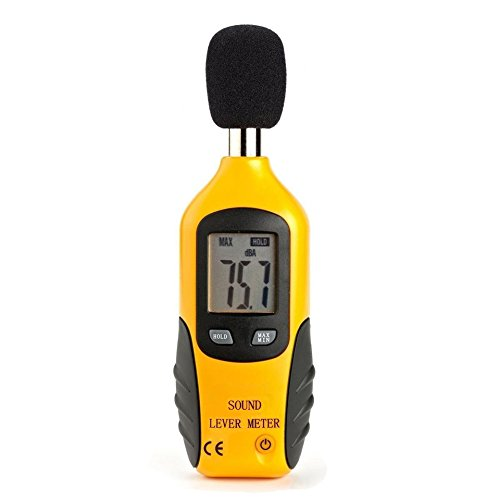Cadrim Sound Level Meter Portable Digital Noise Decibel Sound Level Meter Tester 30 dBA-130 dBA