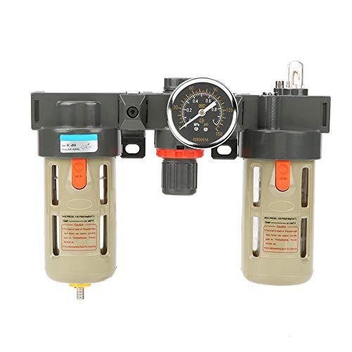 Akozon Air Filter Regulator G1/2 Air Source Gas Treatment Unit Filter Pressure Regulator With Gauge